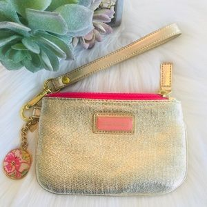 Lilly Pulitzer Golden Wristlet